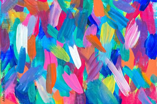streszczenie rysunek na płótnie farbą olejną