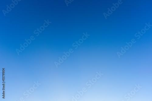 Błękitne niebo i czyste, Błękitne niebo bez chmur