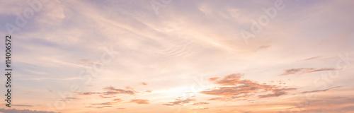 panorama zachód słońca niebo