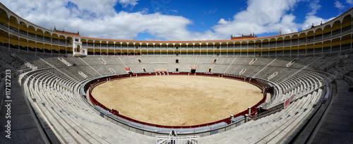 Inside Plaza de Toros de las Ventas in Madrid