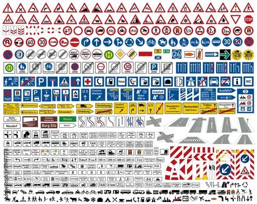 Znaki drogowe Zestaw ikon kolekcji STVO Vektor / niemiecki znak drogowy ruchu ikona wektor zestaw kolekcji