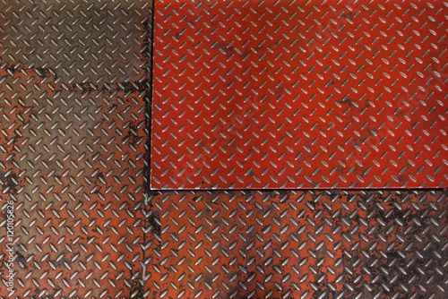 Blacha metal czerwień tło