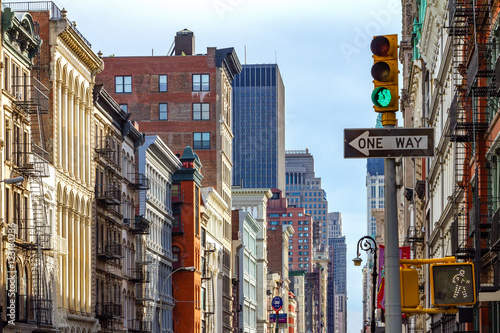 Manhattan Buildings Along an Avenue in SOHO, New York City