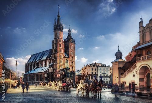 Kraków / Ratusz w Krakowie w Polsce, Europa