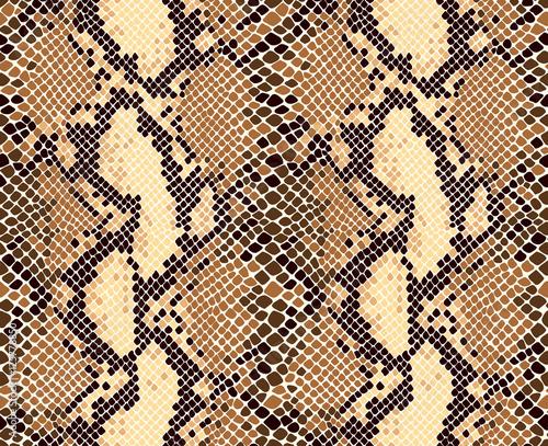 Snakeskin animal print seamless vector pattern.
