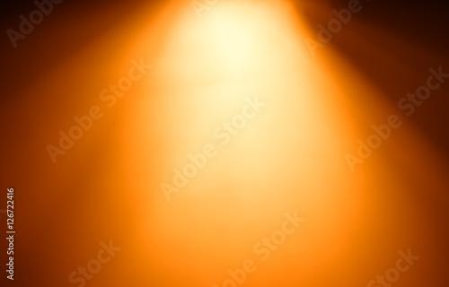 Top orange ray of light bokeh background