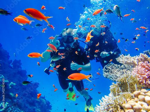 Zajęcia na świeżym powietrzu. Nurkowanie na rafie koralowej