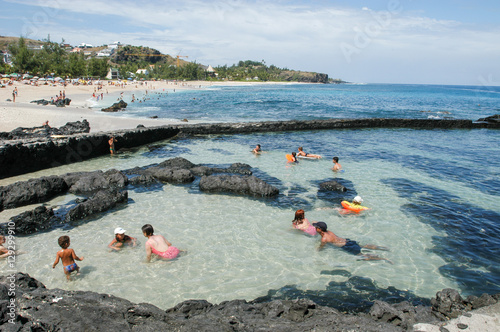 The beach of Boucan Canot on La Reunion island, France