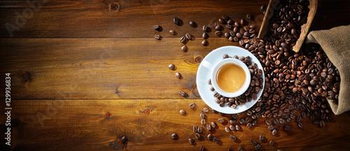 Espresso i ziarna kawy