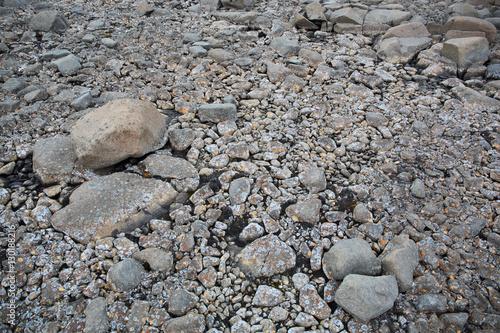 Kamienna powierzchnia pustyni arktycznej