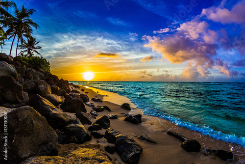 North Shore Sunset in Hawaii