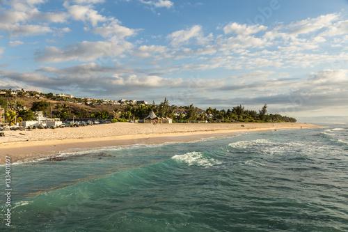 Beach in Saint Gilles les Bains in the Reunion island, France