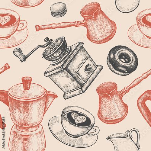 Jednolity wzór polega na kawie.