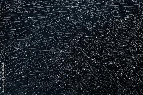Broken glass. Background photo texture