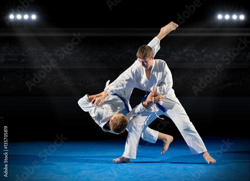 Boys martial arts fighters
