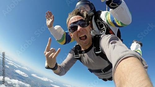Tandem ze spadochronem selfie
