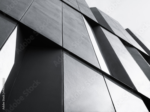 Modern Architecture detail Facade design Black and White