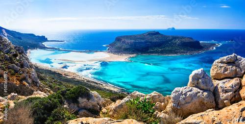 amazing scenery of Greek islands - Balos bay in Crete