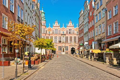 Great Arsenal on Piwna Street at old town in Gdansk