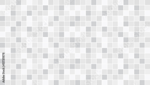 White and gray ceramic floor and wall tiles. Abstract vector background. Geometric mosaic texture. Simple seamless pattern for backdrop, advertising, banner, poster, flyer or web