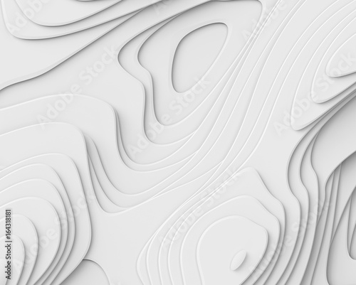 3d render, abstract white paper background, layers, flat fiber structures, holes, macro texture
