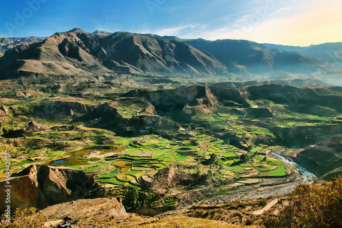 Schodki tarasy w Kanionie Colca w Peru