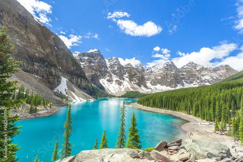 Moraine lake in banff national park, canadian rockies, canada / alberta / brtish columbia