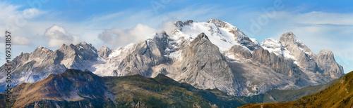 View of Marmolada, Dolomites mountains, Italy