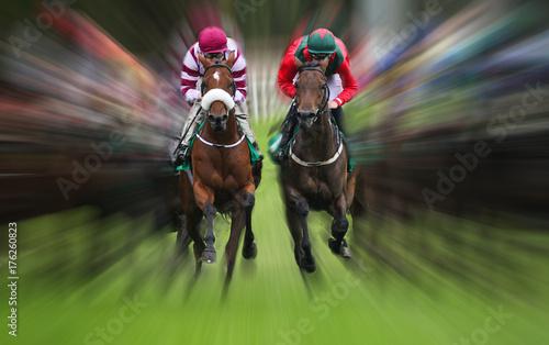 wyścig koni akcja Efekt rozmycia