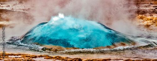 Hot geyser preparing to erupt