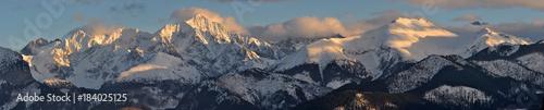 Panorama na Tatry Wysokie Zima