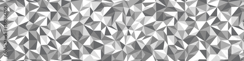 Low Poly black and white seamless background