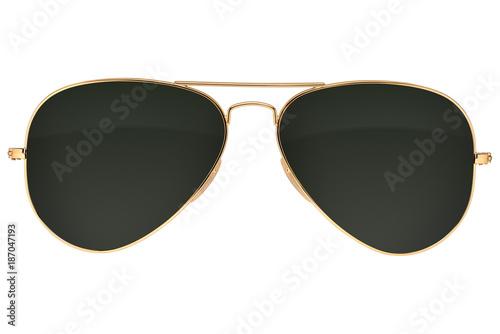 Okulary Aviator na białym tle