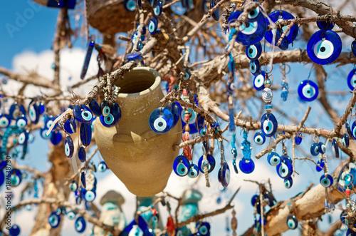 A nazar, charms to ward off the evil eye , in Cappadocia, Turkey