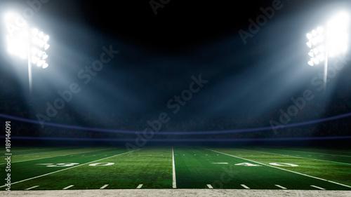 Boisko piłkarskie z oświetleniem stadionu