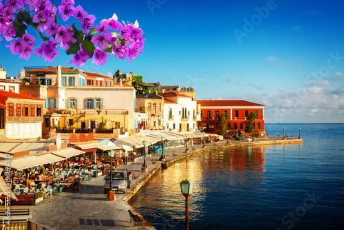 port w Chanii, Kreta, Grecja