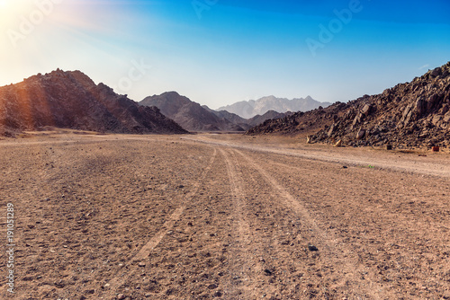 Arabian desert in Egypt