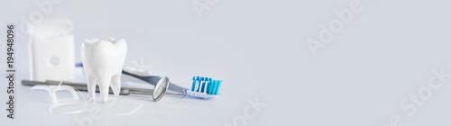 Ząb, zdrowie, koncepcja stomatologii.