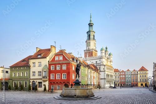 Rynek Starego Miasta w Poznaniu, Polska.