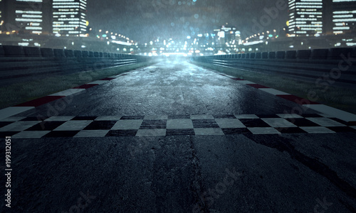 Tor wyścigowy w deszczu