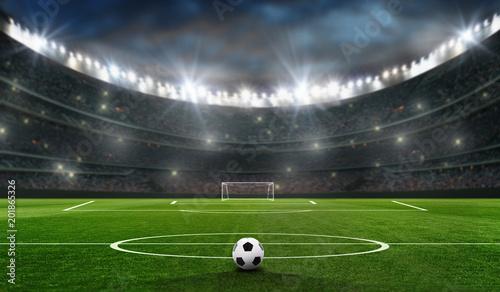 boisko do piłki nożnej z bramką