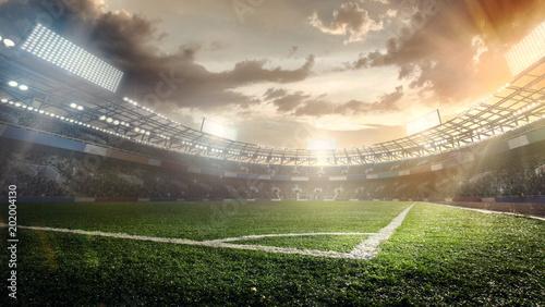 Tła sportowe. Stadion piłkarski.