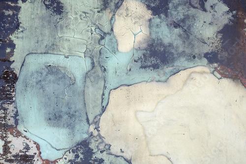 bliska wyblakłe i brudne niebieskiej farby abstrakcyjny wzór