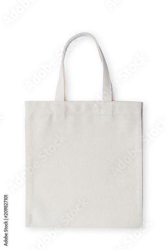 Torba materiałowa tkaniny tkaniny zakupy worek makieta na białym tle (ścieżka przycinająca)
