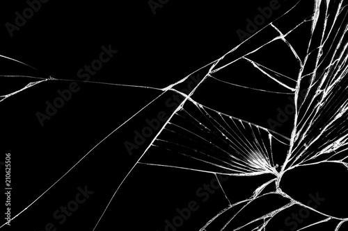 Czarny pęknięty telefon z ekranem dotykowym, tło, tekstura dla twojego projektu.