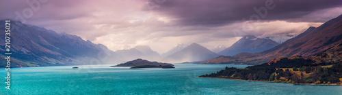 Burza nad Glenorchy, Otago Środkowe - Wyspa Południowa Nowej Zelandii