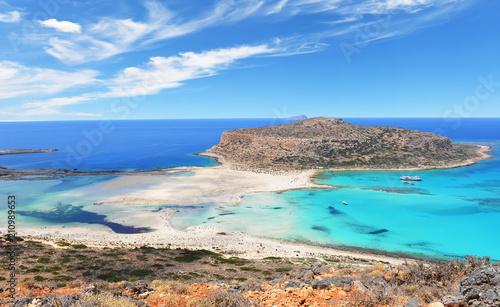 Słynna laguna Balos na wyspie Grecji Krecie