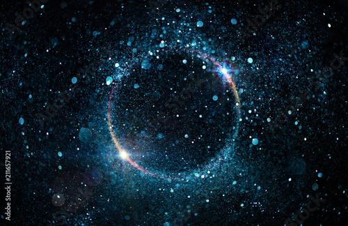 Brokat cząstek w kole - streszczenie czarna dziura