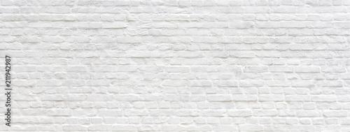 Białe malowane stare ceglane ściany panoramiczne tło