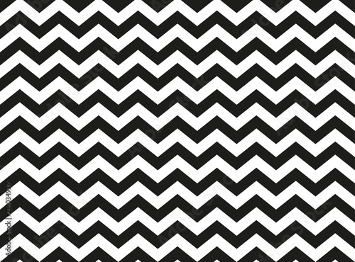 Regular black and white zigzag chevron pattern, seamless zig zag line texture abstract geometry background